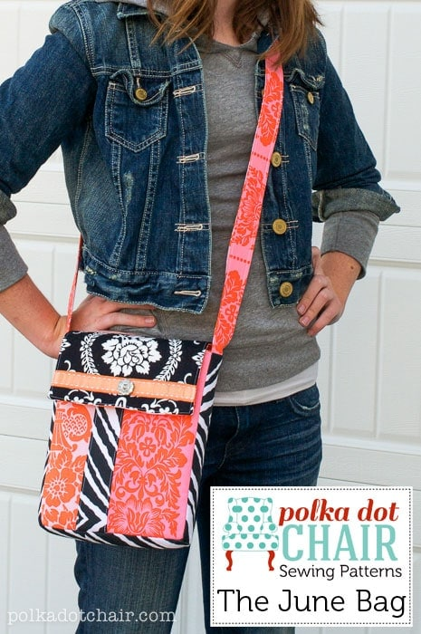 The June Bag, a Cross Body Bag Sewing Pattern
