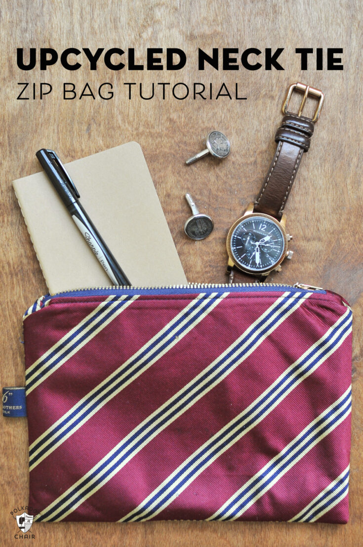 How to Make a Zip Bag from Old Ties