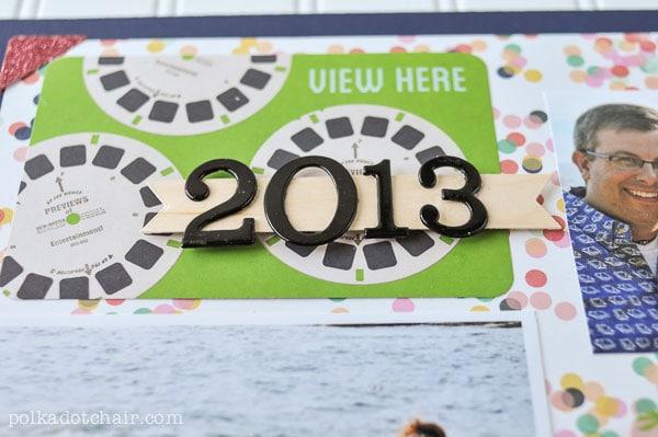 2013 Family Scrapbook Idea