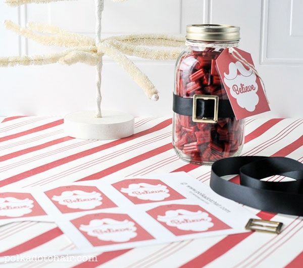 Mason Jar Santa Claus