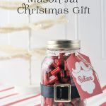 Santa Mason Jar Christmas Gift Idea