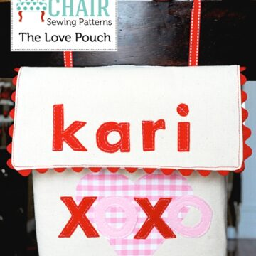 Holiday Chair backer Sewing Pattern