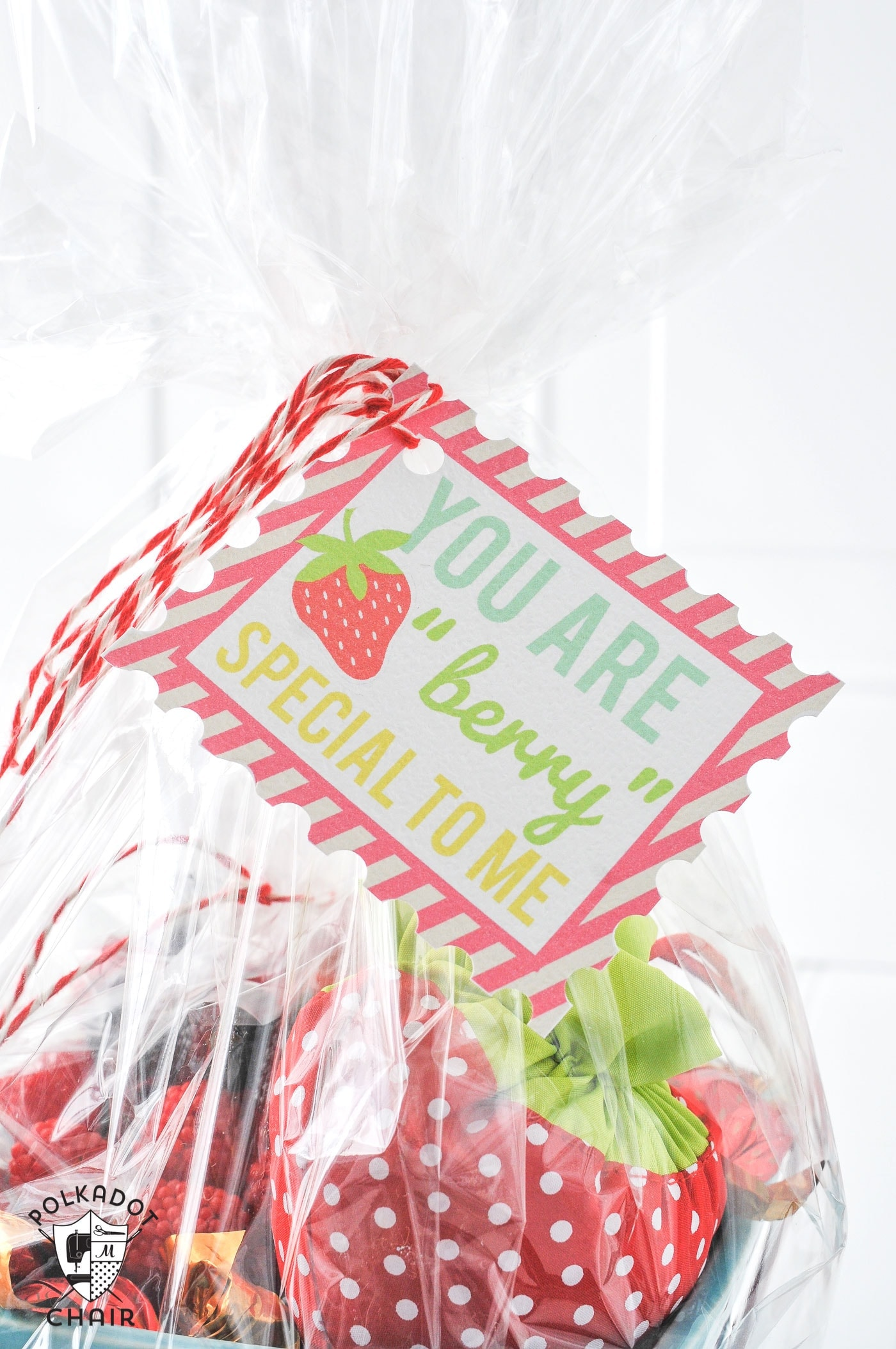 "Berry Basket Gift idea and free printable ""You are Berry Special"" Tags... cute"