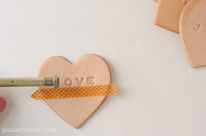 DIY Leather Conversation Hearts