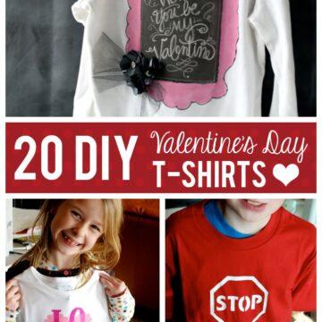 20 DIY Valentine's Day T-shirt Ideas