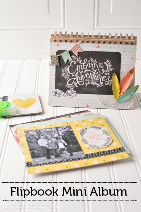 How to make a flip book mini scrapbook.