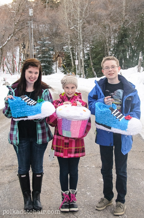 Wrap a gift in a piñata!