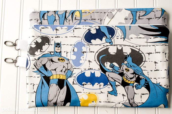 Zip Pouches to Sew for Boys