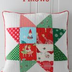 Patchwork Quilted Christmas Pillows