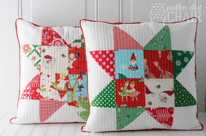 Free Throw Pillow Quilt Pattern : Patchwork Quilted Pillow sewing tutorial