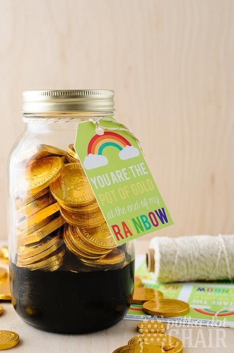 Free Printable St. Patricks Day Tags and Cute Mason Jar Ideas