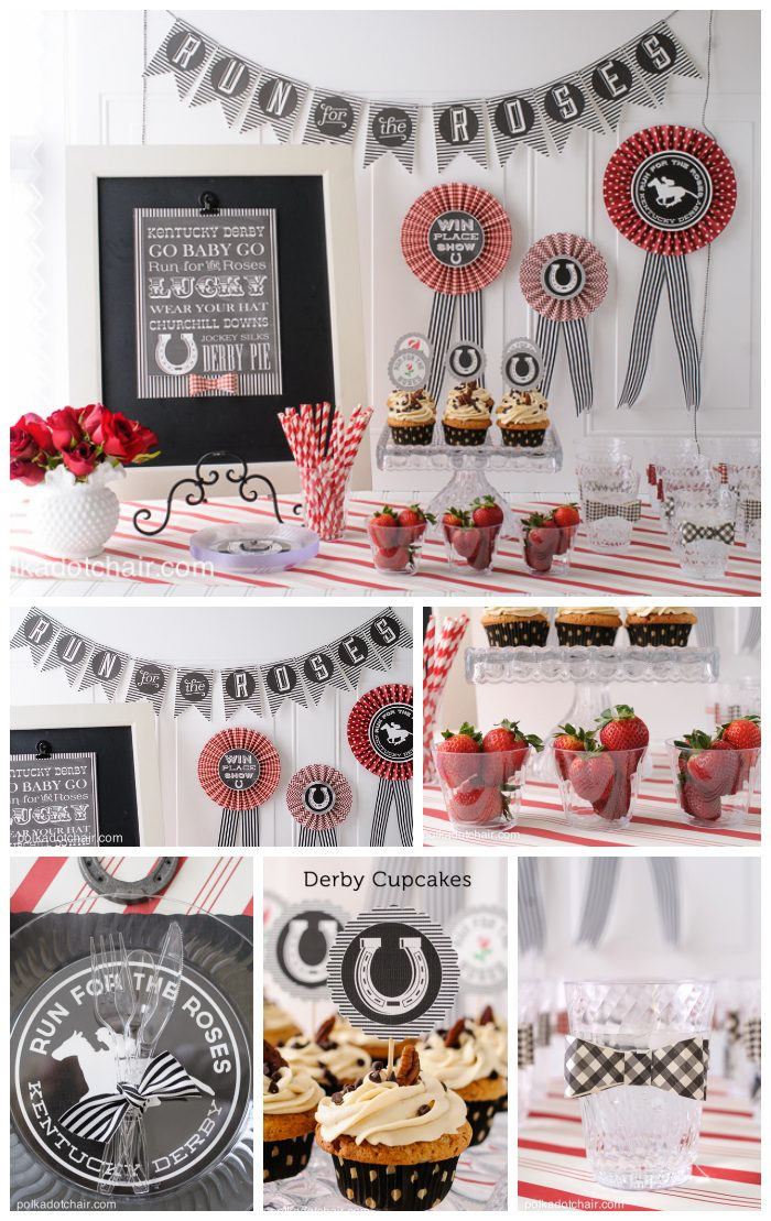 kentucky derby party ideas and free printables on polkadotchair com