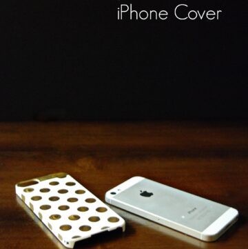 Kate Spade Inspired DIY iPhone Case