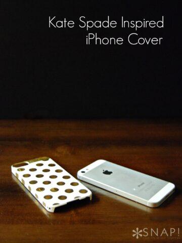 DIY Kate Spade Inspired iPhone Case