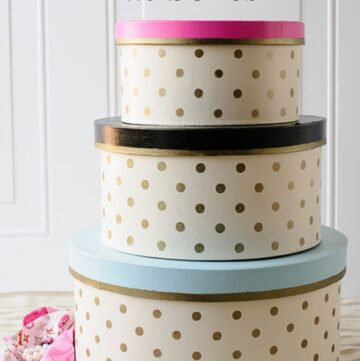 DIY Gold Polka Dot Hat Boxes