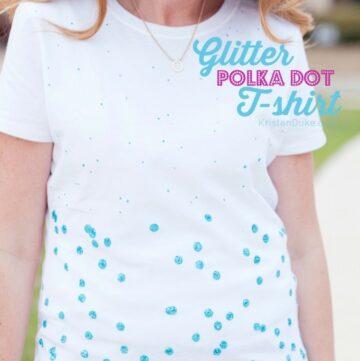 Glitter Polka Dot T-Shirt by Capturing Joy