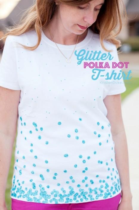 Glitter Polka Dot T-Shirt by KristenDuke.com