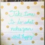 DIY Polka Dot Wood Sign by Nesting in the Bluegrass