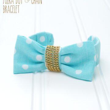 DIY Polka Dot Chain Bracelet by Flamingo Toes