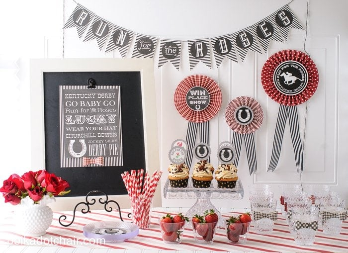 Kentucky Derby Party Ideas And Free Printables On Polkadotchaircom - Children's birthday parties derbyshire