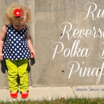 Ruth's Reversible Polka Dot Pinafore