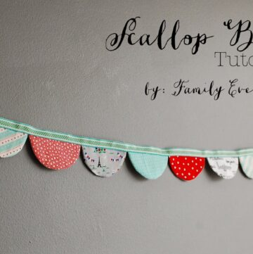 Scalloped Bunting Sewing Tutorial