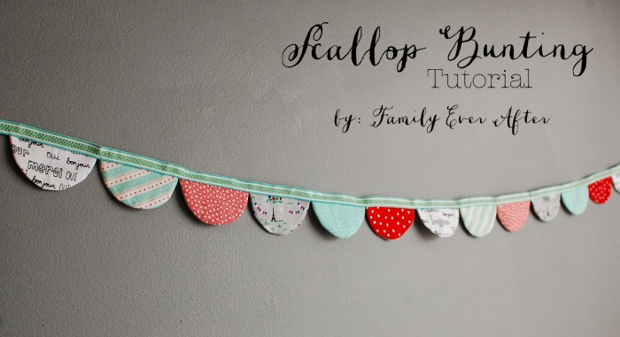 Scallop Bunting Tutorial by FamilyEverAfterblog.com