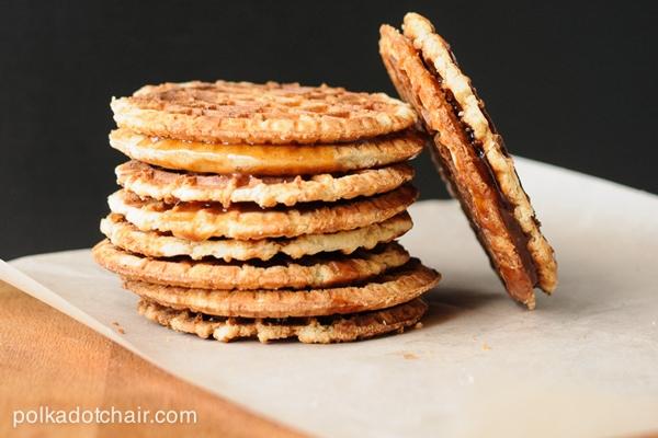 Caramel Waffles or Stroopwafels