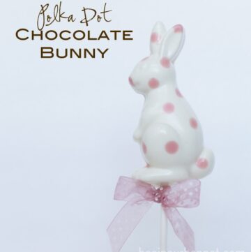 Polka Dot Chocolate Bunnies by Bee in Our Bonnet