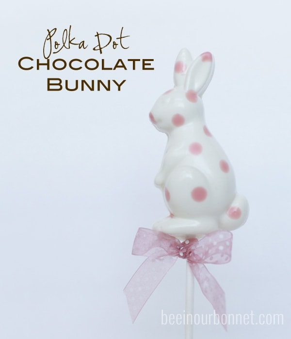 Polka Dot Chocolate Bunnies by beeinourbonnet.com
