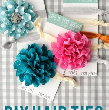 DIY Hair Ties, a Gift Idea