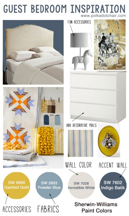 Guest Bedroom Inspiration & Paint Colors