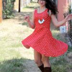 Polka Dot Peplum Party Dress by Sew Caroline