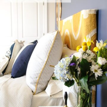 Navy + Gold Guest Bedroom