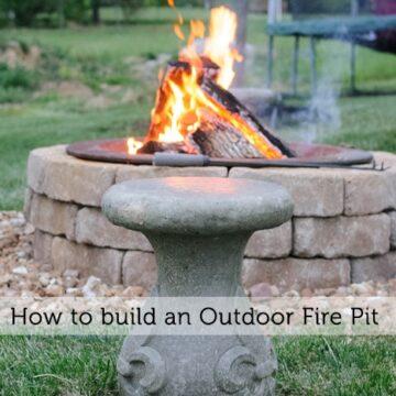 DIY Stone Fire Pit