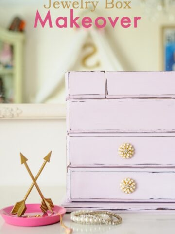 Jewelry Box Redo using Chalky Finish Paint