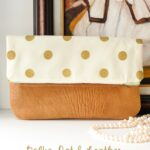 Polka Dot Fold Over Clutch Tutorial (with custom stenciled fabric)