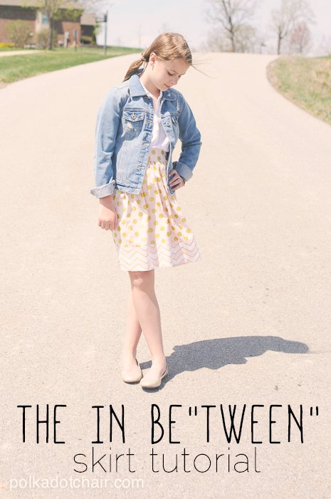 The In Be Tween Skirt Tutorial A Sewing Pattern For Tween Clothing