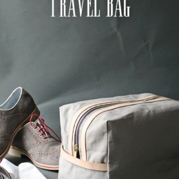 Dad's Travel Bag, a free tutorial on polkadotchair.com