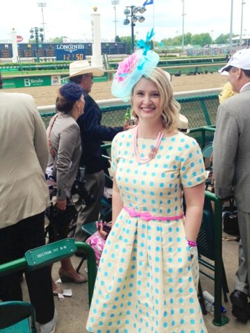 A Polka Dot Dress and the Kentucky Derby on polkadotchair.com