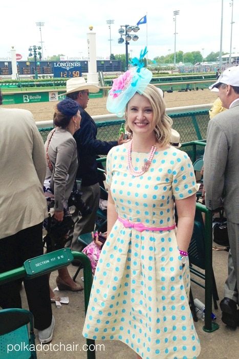 c2a073c240d A Polka Dot Dress and the Kentucky Derby on polkadotchair.com
