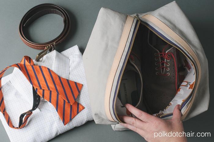 Dad's Travel Bag, a free tutorial on polkadotchair.com