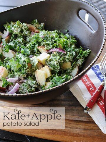 Kale and Apple Potato Salad Recipe on polkadotchair.com