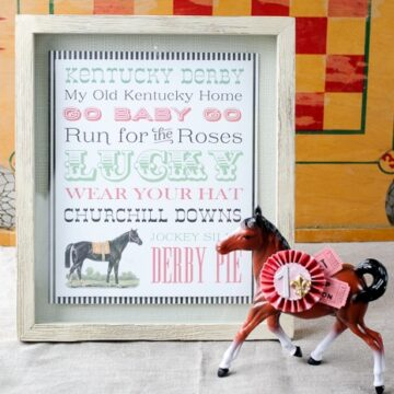 Free Printable Kentucky Derby Subway Art on polkadotchair.com