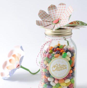 Paper Flower Mason Jar Craft Idea