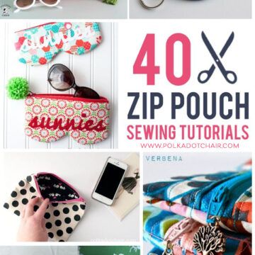 40 Zipper Pouch Tutorials