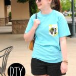 DIY Monogrammed Pocket T Shirt