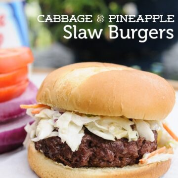 Cabbage & Pineapple Slaw Burgers