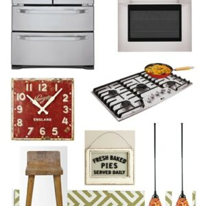 Modern Country Kitchen Inspiration Board