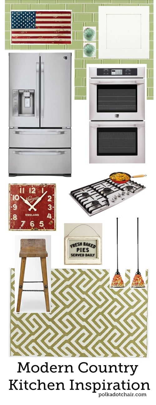 Modern Country Kitchen Inspiration Board